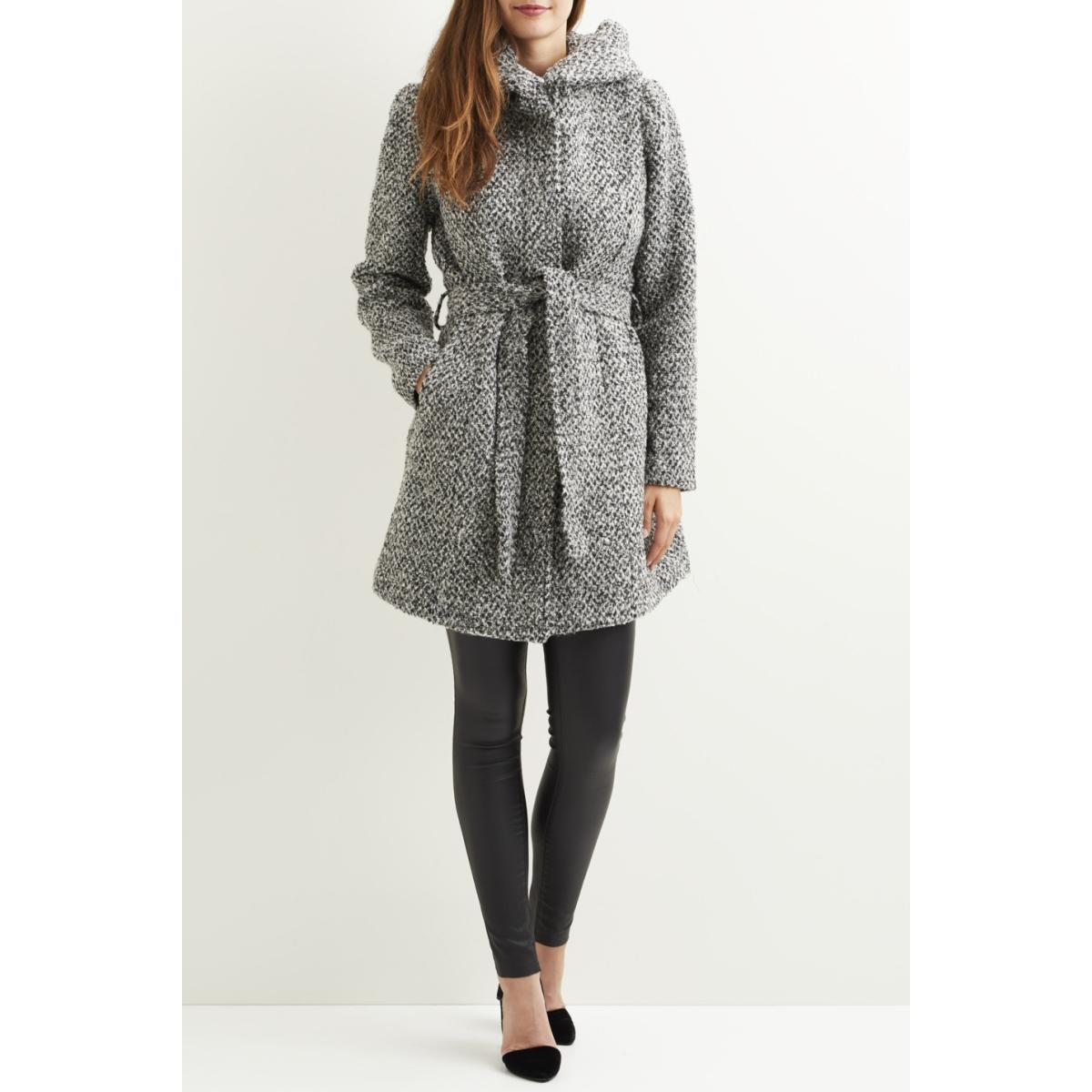 vicama new wool coat-noos 14043633 vila jas light grey melange