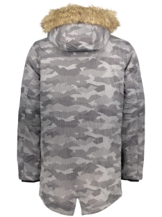 jcoland parka jacket camp 12124254 jack & jones jas black