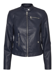 Vero Moda Jas VMCHANINE SHORT PU JACKET BOOS 10179244 Navy Blazer