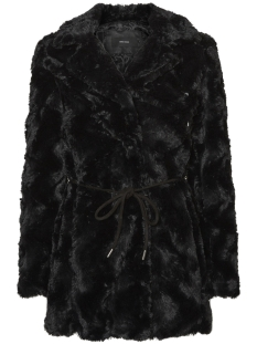Vero Moda Jas VMELLEN CURL FAKE FUR JACKET A 10180656 Black Beauty