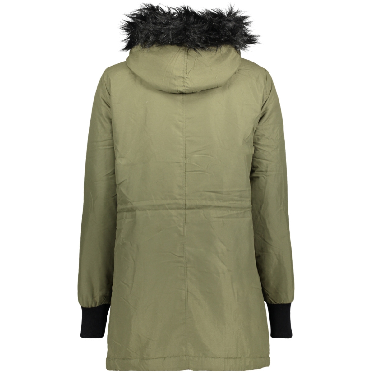 nmkarma l/s parka jacket - 4b 10179046 noisy may jas ivy green