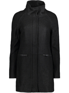 Vero Moda Jas VMEMRA LOOP ZIP 3/4 WOOL JACKET 10190238 Black Beauty