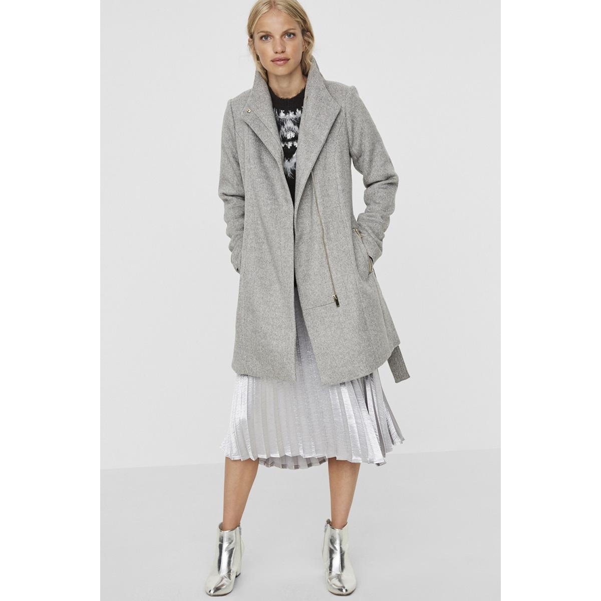 vmtwo dope 3/4 wool jacket 10150079 vero moda jas light grey melange