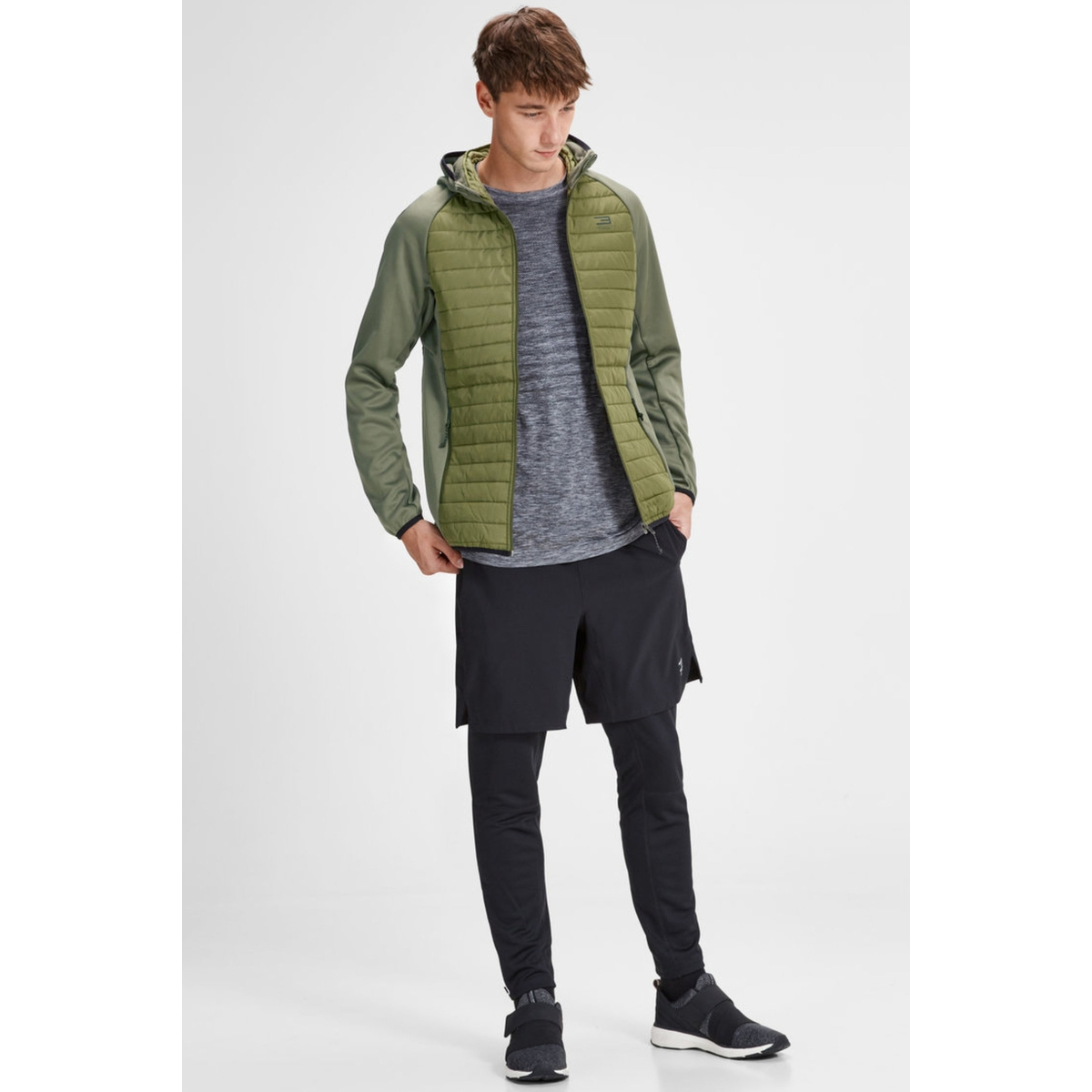 jcomulti quilted jacket noos 12110590 jack & jones jas olive night
