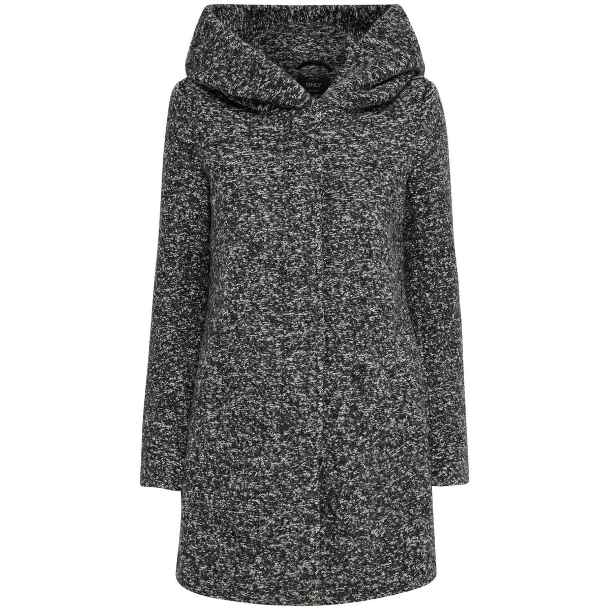 onlindie noma wool coat cc otw 15136117 only jas dark grey melange