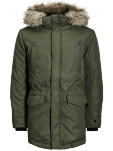 jcoland parka jacket camp 12124254 jack & jones jas rosin