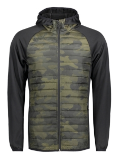 Jack & Jones Jas JJTMULTI QUILTED PRINT JACKET 12126109 Olive Night
