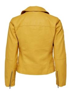 onlsummer faux leather crop biker cc otw 15144751 only jas yolk yellow