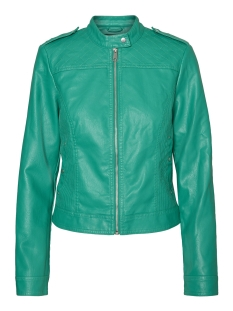 Vero Moda Jas VMALICE SHORT FAUX LEATHER JACKET BOOS 10189458 Pepper Green