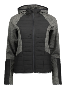 Only Play Sport jas onpBEVERLY HOOD JACKET 15145385 Dark Grey Melan/BLACK