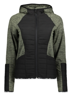 Only Play Sport jas onpBEVERLY HOOD JACKET 15145385 Four Leaf Clove/BLACK