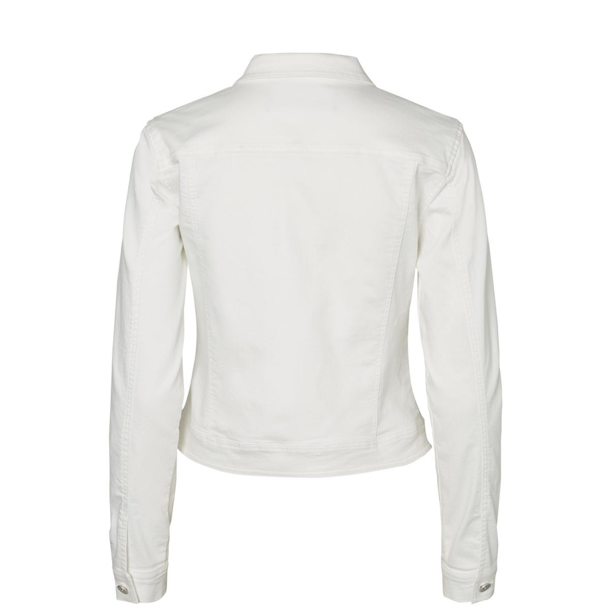 vmhot soya ls denim jacket mix 10193085 vero moda jas bright white