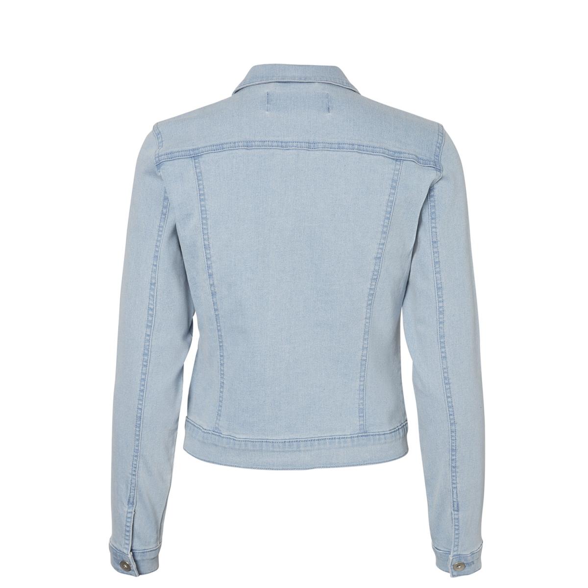 vmhot soya ls denim jacket mix 10193085 vero moda jas light blue denim
