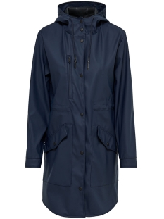 Only Jas onlLAYLA LONG RAINCOAT OTW 15148582 Blue Nights