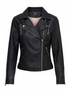 Only Jas onlGEMMA FAUX LEATHER BIKER OTW NOO 15153079 Black