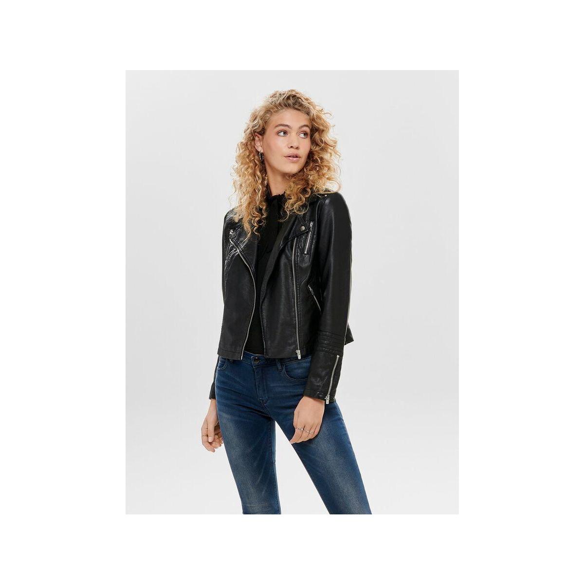onlgemma faux leather biker otw noo 15153079 only jas black