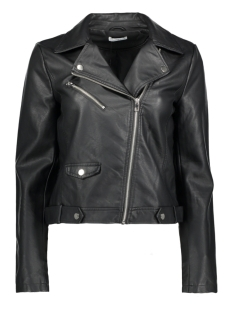 Jacqueline de Yong Jas JDYBOUNTY FAUX LEATHER BIKER JACKET 15151943 Black