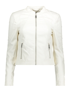 Vero Moda Jas VMEVER SHORT FAUX LEATHER JACKET 10197608 Snow White