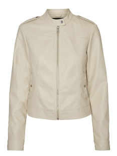 Vero Moda Jas VMALICE SHORT FAUX LEATHER JACKET B 10189458 Oatmeal