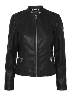 Noisy may Jas NMCORE  L/S PU BIKER JACKET REP. 27001839 Black