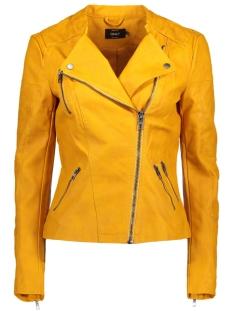 Only Jas onlAVA FAUX LEATHER BIKER OTW NOOS 15102997 Golden Yellow