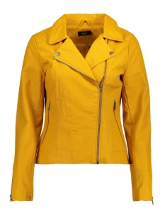 Only Jas onlSAGA FAUX LEATHER BIKER CC OTW 15156493 Golden Yellow
