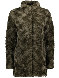 vmcurl high neck faux fur jacket no 10203269 vero moda jas peat