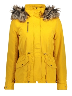 Only Jas onlNEW STARLIGHT FUR PARKA CC OTW 15156509 Golden Yellow