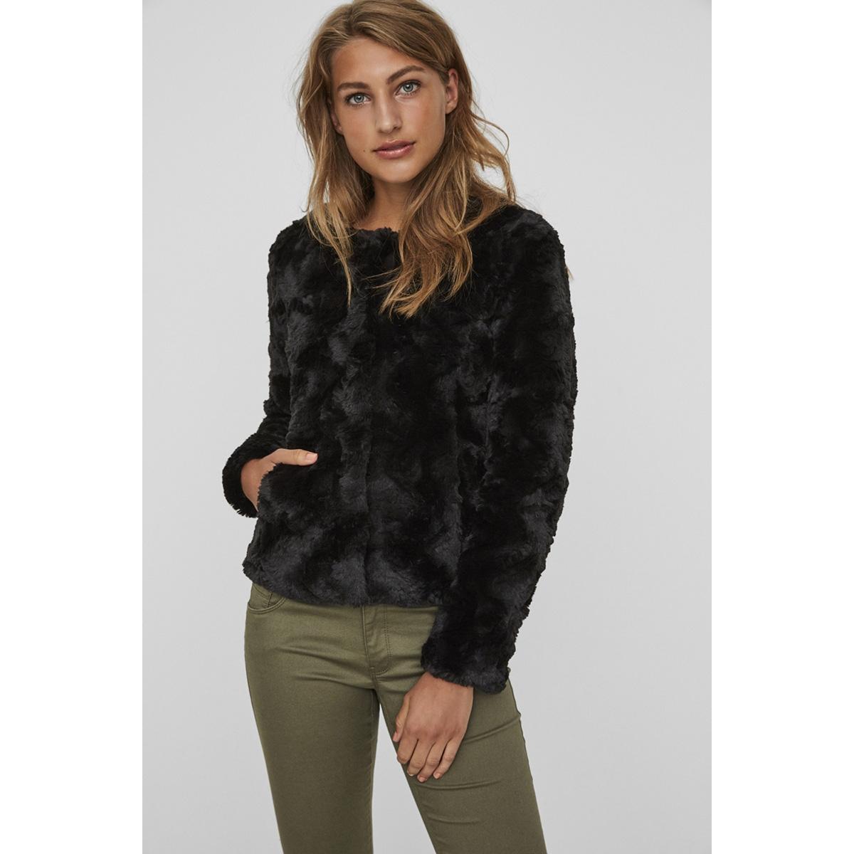 vmcurl short fake fur jacket noos vero moda jas black