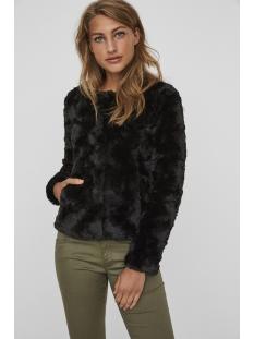 vmcurl short fake fur jacket noos 10189531 vero moda jas black