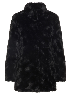 Vero Moda Jas VMCURL HIGH NECK FAUX FUR JACKET NO 10203269 Black