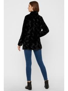 vmcurl high neck faux fur jacket noos 10203269 vero moda jas black