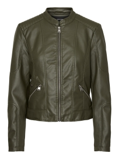 Only Jas VMEUROPE FAVO FAUX LEATHER JACKET I 10199179 Peat
