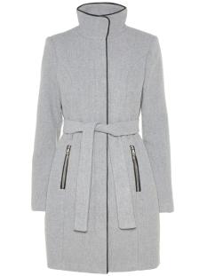 vmbessy class 3/4 wool jacket noos 10199024 vero moda jas light grey melange