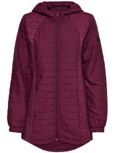 Only Play Sport jas onpHILLS HOOD LONG JACKET 15154169 Rhododendron/W RHODODE