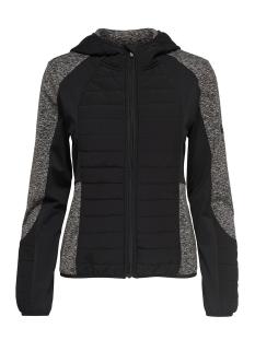 Only Play Sport jas onpHILLS HOOD SHORT JACKET 15154170 Black/W. DGM