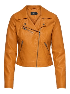 Only Jas nlVIGGA FAUX LEATHER BIKER CC OTW 15156495 Marmalade