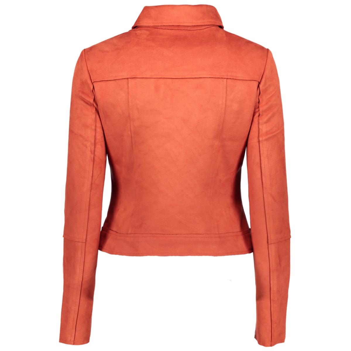vmtilla short faux suede jacket 10201667 vero moda jas ketchup