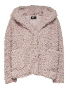 Only Jas onlGLAM FAUX FUR HOOD JACKET OTW 15163167 Misty Rose