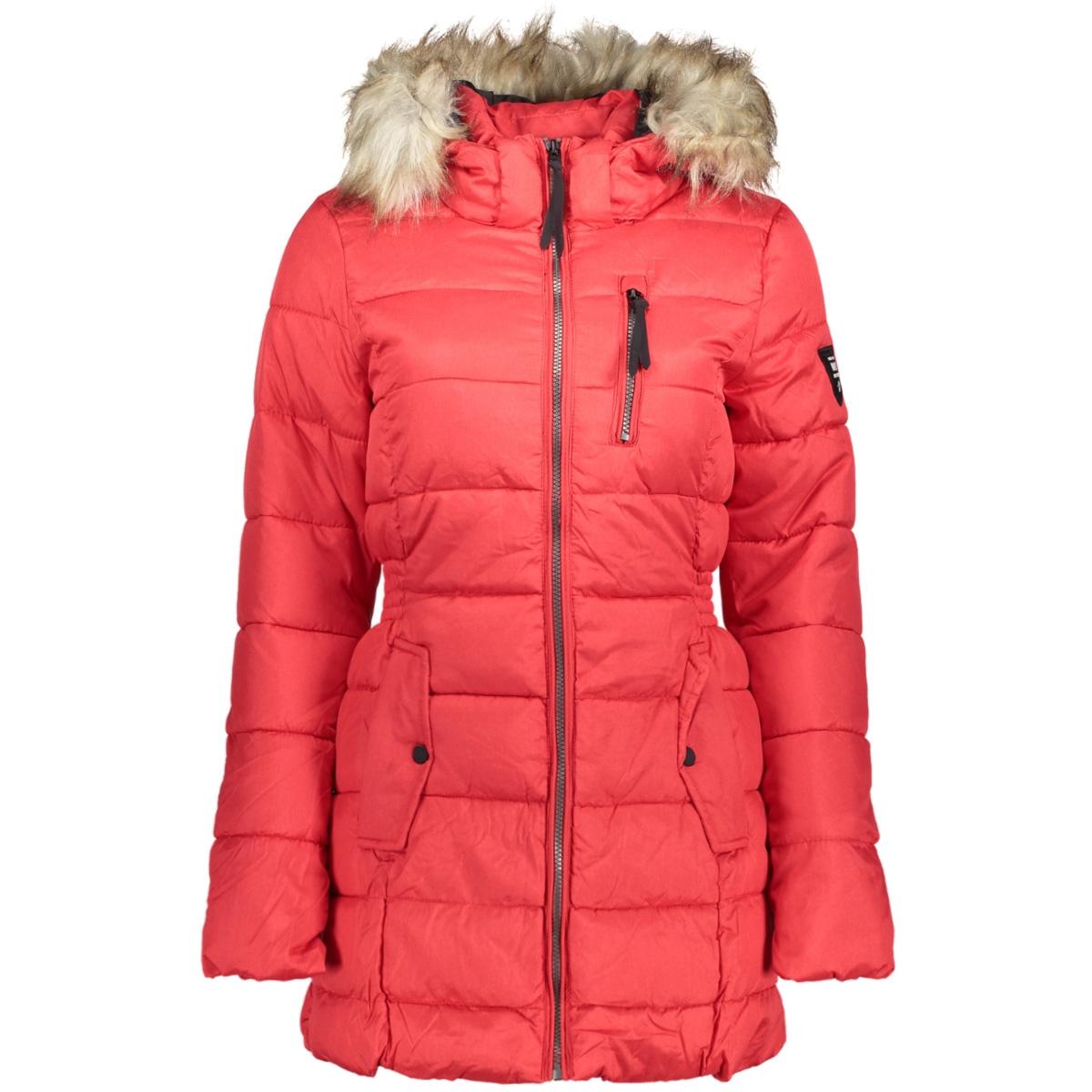 onlnorth nylon coat cc otw 15157091 only jas goji berry/melange