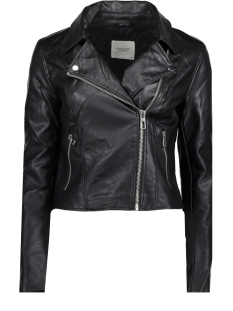 Jacqueline de Yong Jas JDYESMA SHORT FAUX LEATHER JACKET O 15160981 Black