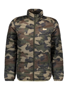 Jack & Jones Jas JORBEND STAND COLLAR 12138350 Forest Night/CAMO