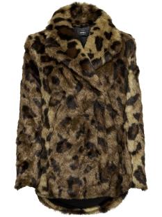 onljuliane faux fur leo coat otw 15158742 only jas tiger eye