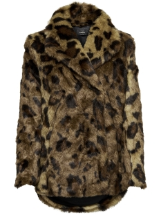 Only Jas onlJULIANE FAUX FUR LEO COAT OTW 15158742 Tiger Eye