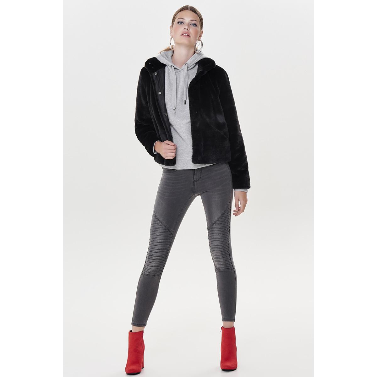 onlvida faux fur jacket otw noos 15160013 only jas black