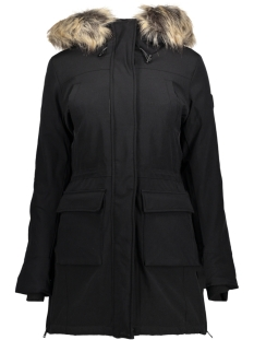 Only Jas onlNEW SALLY LONG NYLON COAT OTW 15160017 Black