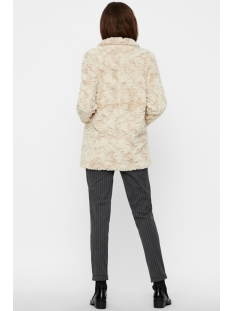 vmcurl high neck faux fur jacket noos 10203269 vero moda jas oatmeal