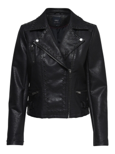 Only Jas onlANABELLE EMB. FAUX LEATHER BIKER 15165873 Black