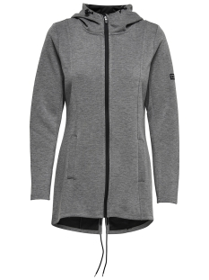 Only Play Sport vest onpEVA LONG SWEAT 15159802 Dark Grey Melange