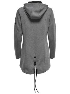 onpeva long sweat 15159802 only play sport vest dark grey melange